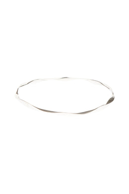 Smooth Endless Wave Silver Bangle