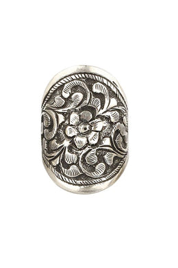 Assorted Ornate Filigree Oxidised Silver Ring
