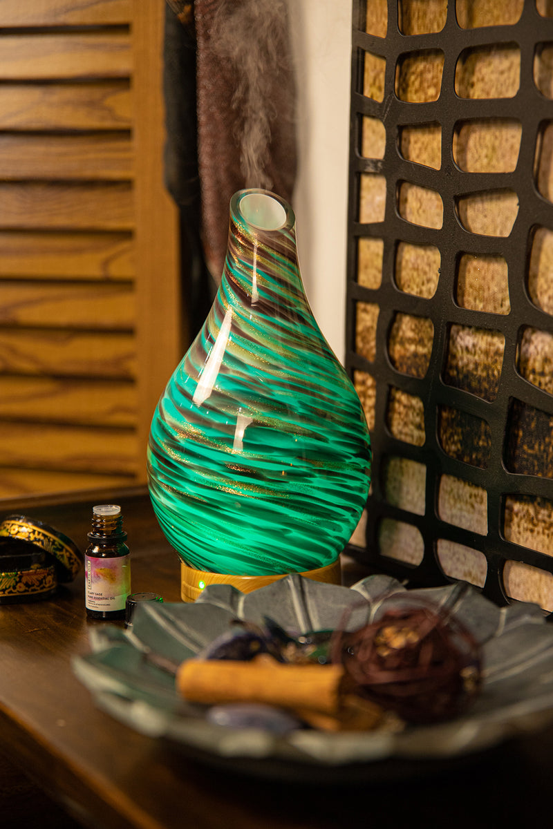 Glass Teardrop Electric Oil Diffuser