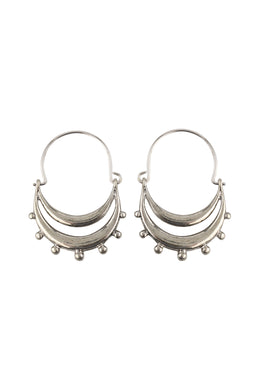 Basket Layers Dot Edge Earrings