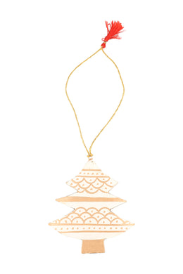 Ivory & Gold Christmas Tree Decoration