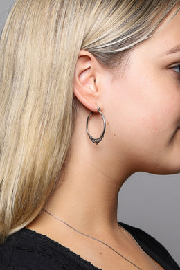 Dot Point Hoop Earrings with Gold Plating