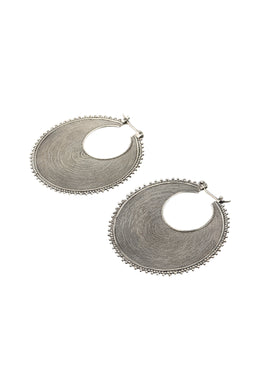 Tribal Statement Filigree Silver Earrings