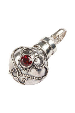Assorted Ornate Orb Perfume Silver Pendant