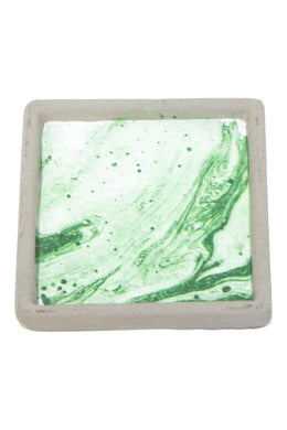 Masina Green Marble Cement Coaster