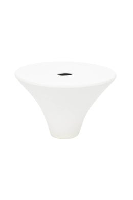 White Flat Top Ceramic Cone Vase