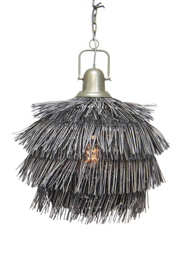 Grey Rattan Pendant Lamp Shade