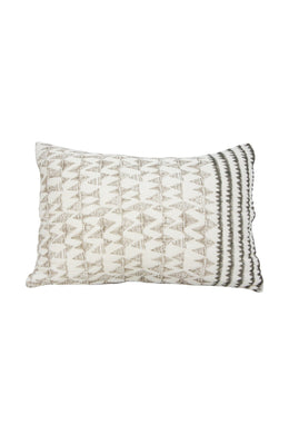 Quilted Peaks Grey Pillowcase