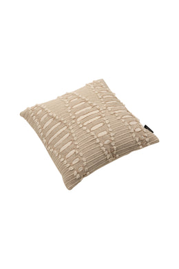 Dori Beige Applique Cushion