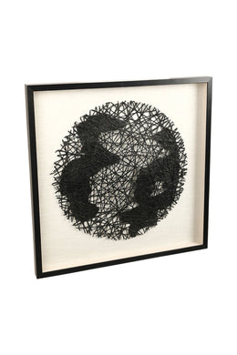 Black Abstract Canvas Wall Art