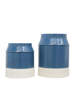 Blue White Base Ceramic Vase