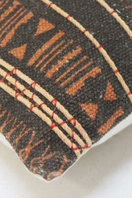 Adder Rust Black Square Cushion