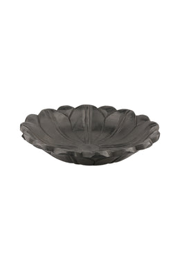 Carved Wooden Black Lotus Bowl