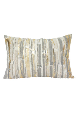 Arna Taupe & Gold Cushion