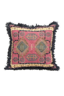 Embroidered Ruby Cushion