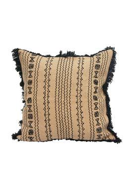 Embroidered Black & Cream Raani Cushion