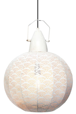 White Arch Metal Pendant Lamp Shade - 45cm