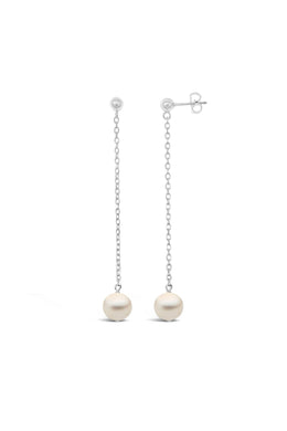 Single Pearl Stud Dangles
