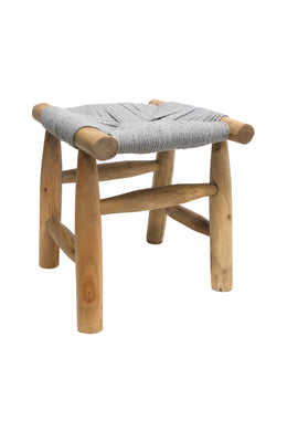 Grey Eucalyptus Rope Stool
