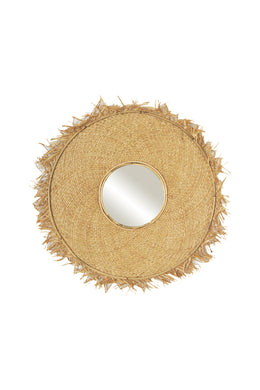 Malay Natural Woven Mirror