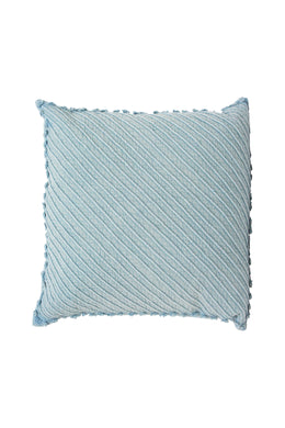 Amisha Chambray Cushion with Dori Detail