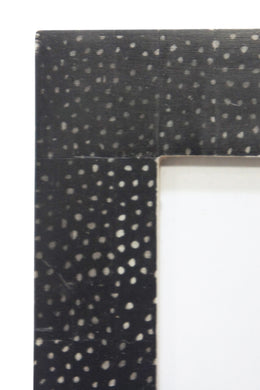Black Polka Dot Bone Frame