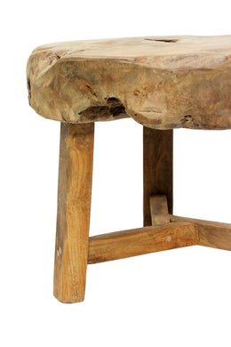 Tunis Teak Slab Stool