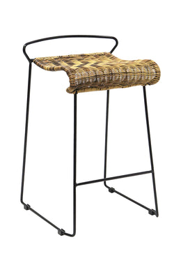 Light Woven Outdoor Bar Stool
