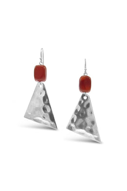 Beaten Gemstone Earring