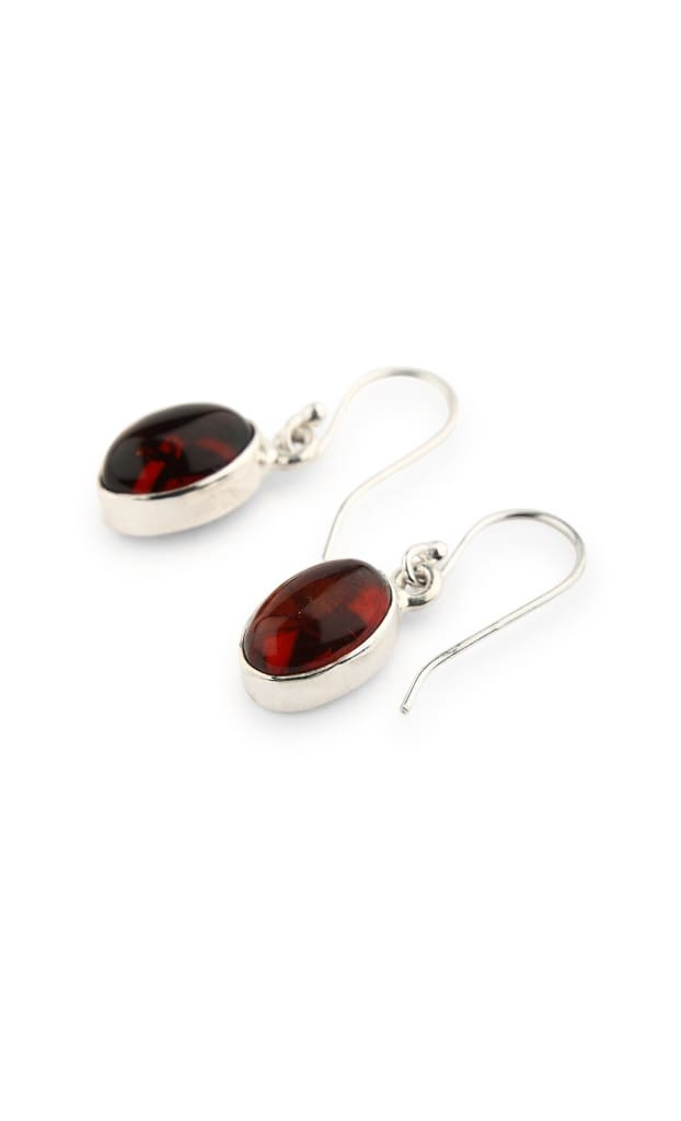 Amber Oval Droplets Earrings