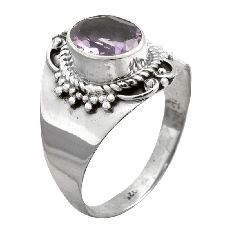 Amethyst Dot Setting Ring