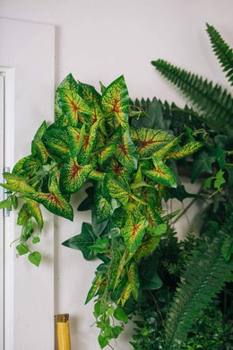 Artificial Caladium Bush Pot Plant