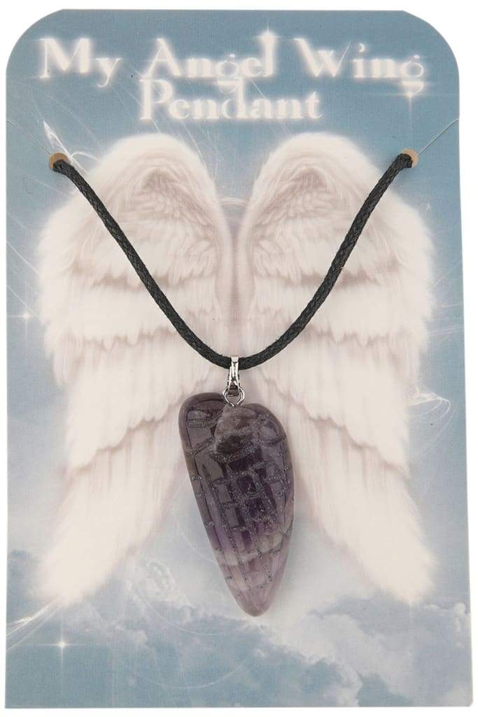 Assorted Gemstone My Angel Wing Necklace