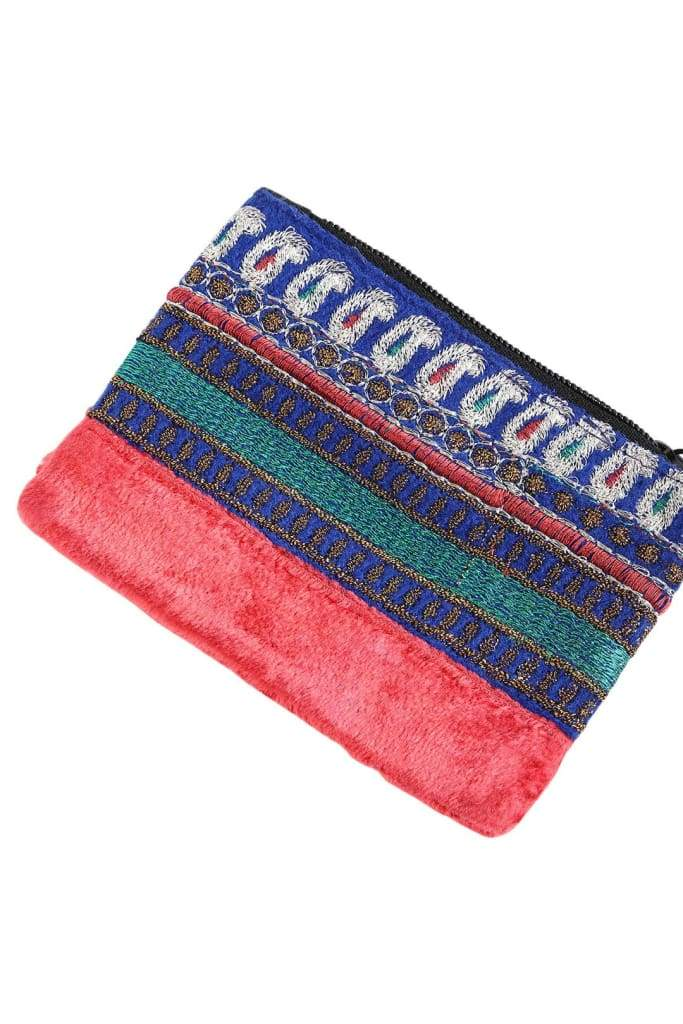 Assorted Velvet Embroidered Pouch