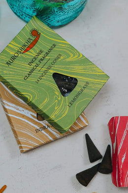 Auroshikha Incense Cones - Lemongrass