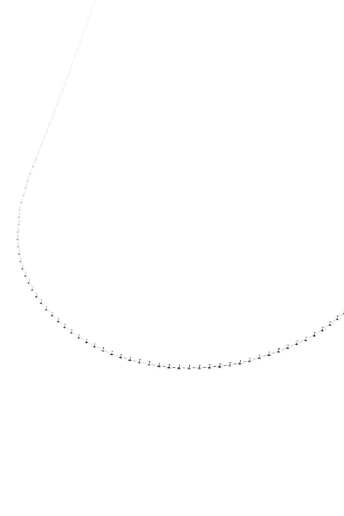 Ball Silver Chain Necklace - 24
