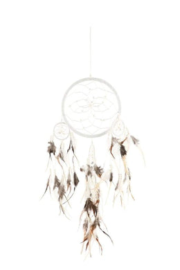 Beady Dream Catcher - White