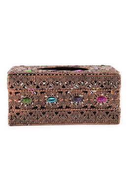 Bejewelled Metal Tissue Box