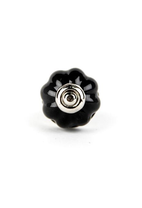 Black Flower Doorknob