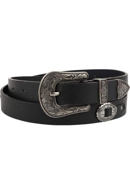Black Western Leather Belt