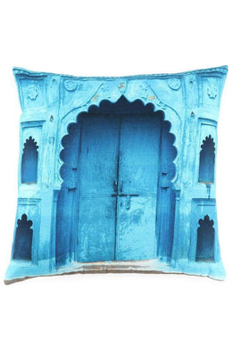 Blue Almedina India Digital Print Cushion