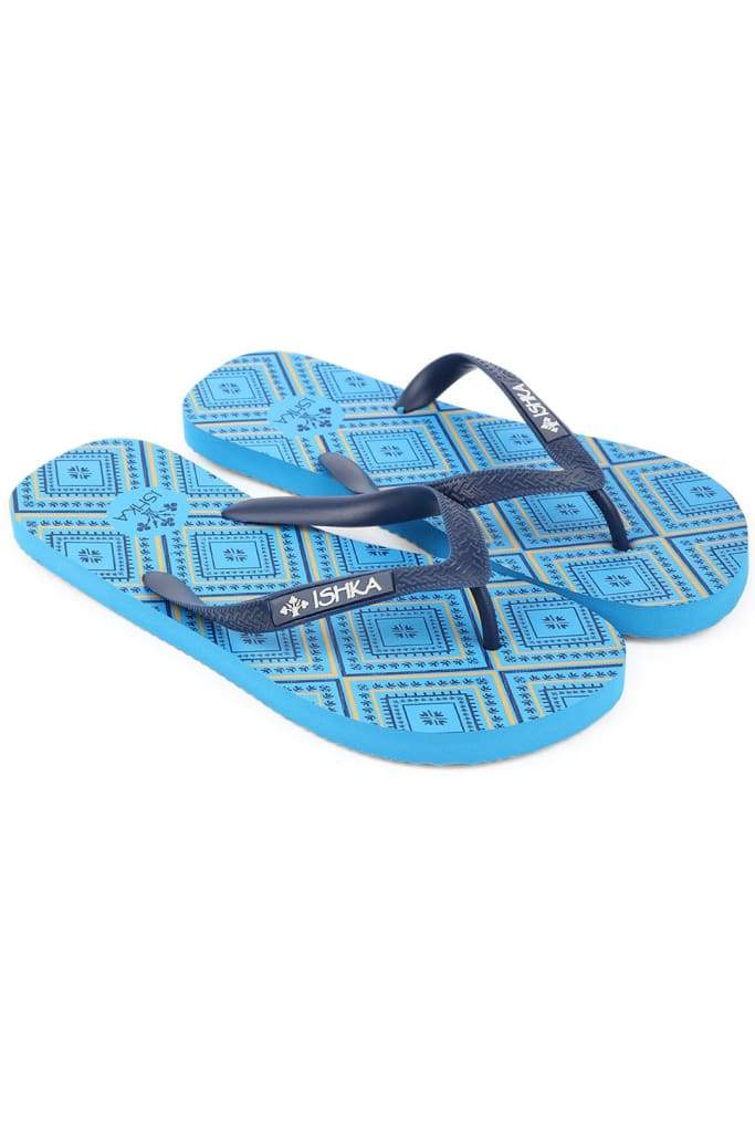 Blue Diamond Aztec Print Thongs
