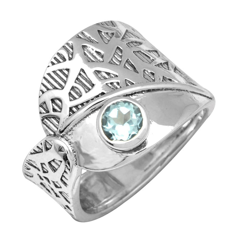 Blue Topaz Forest Ring