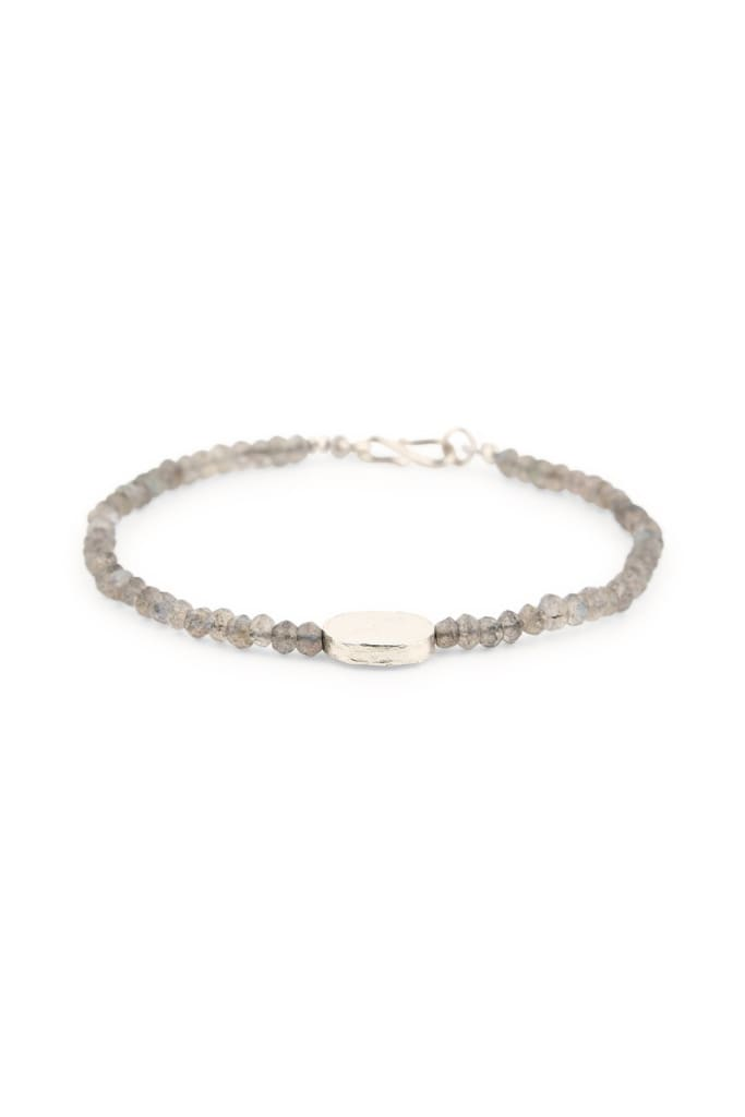 Bracelet Gemstones With Single Metal Charm