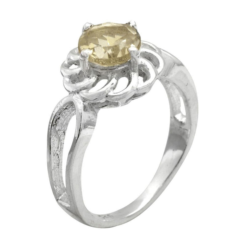 Citrine Flower Ring