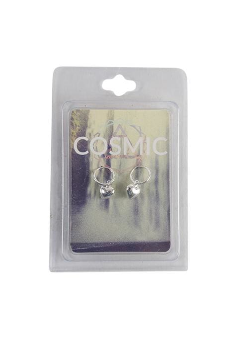 Cosmic Safety Pin Silver Earrings