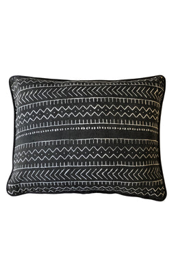 Authentic Black Mudcloth Cushion Large