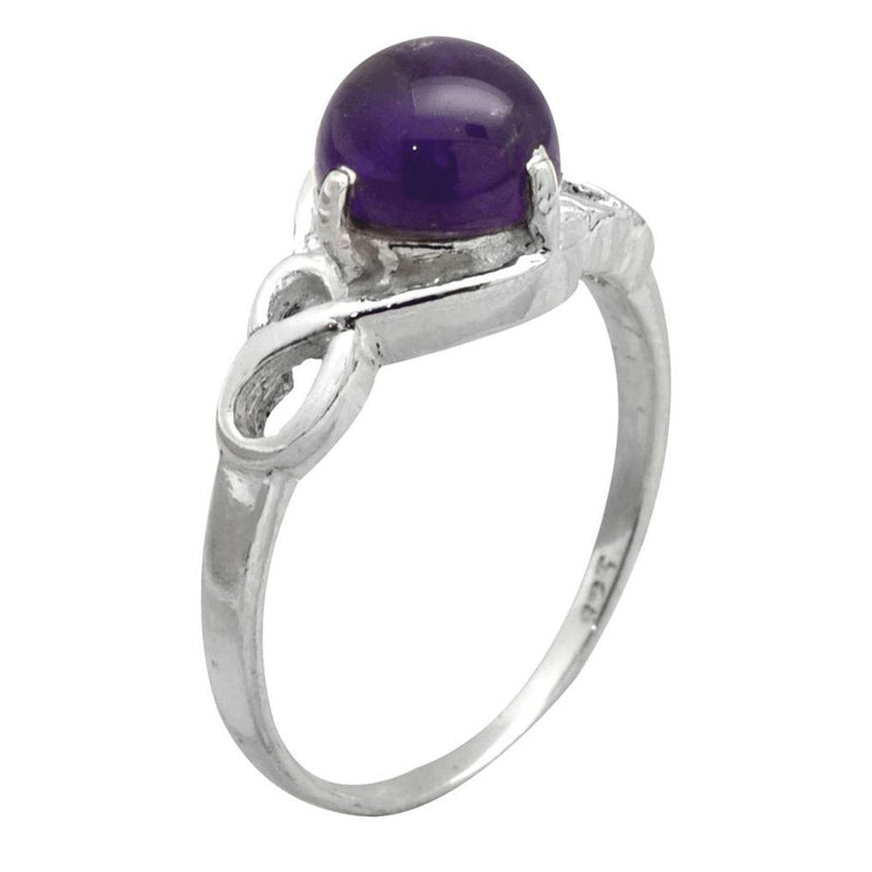 Dainty Dark Amethyst Ring