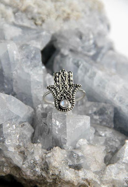 Dot Work Hamsa Ring