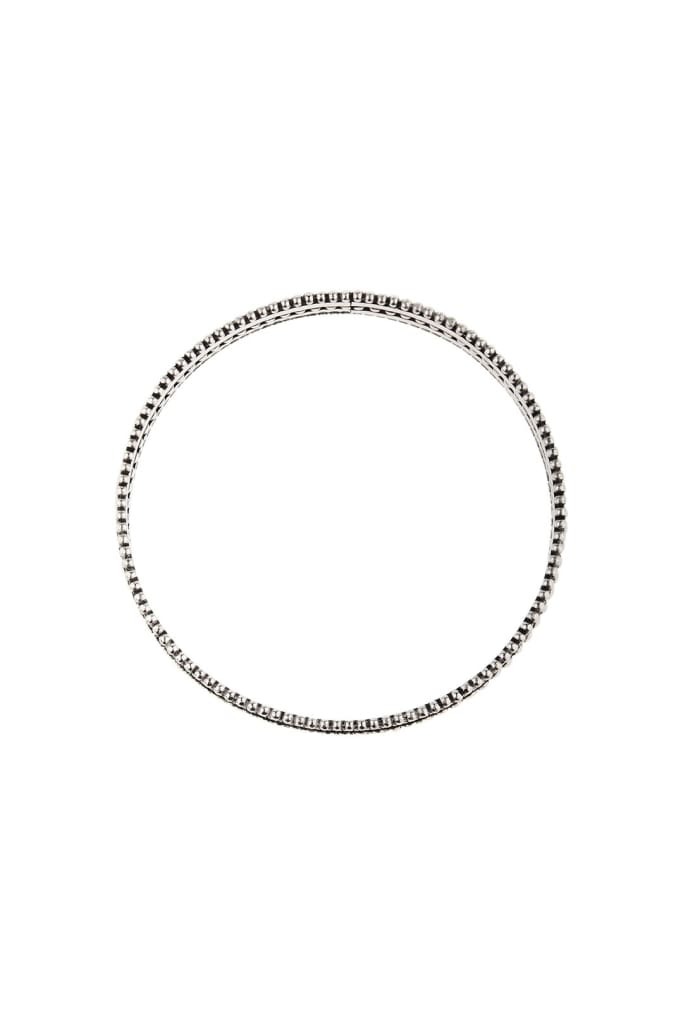 Dotted Layers Silver Bangle